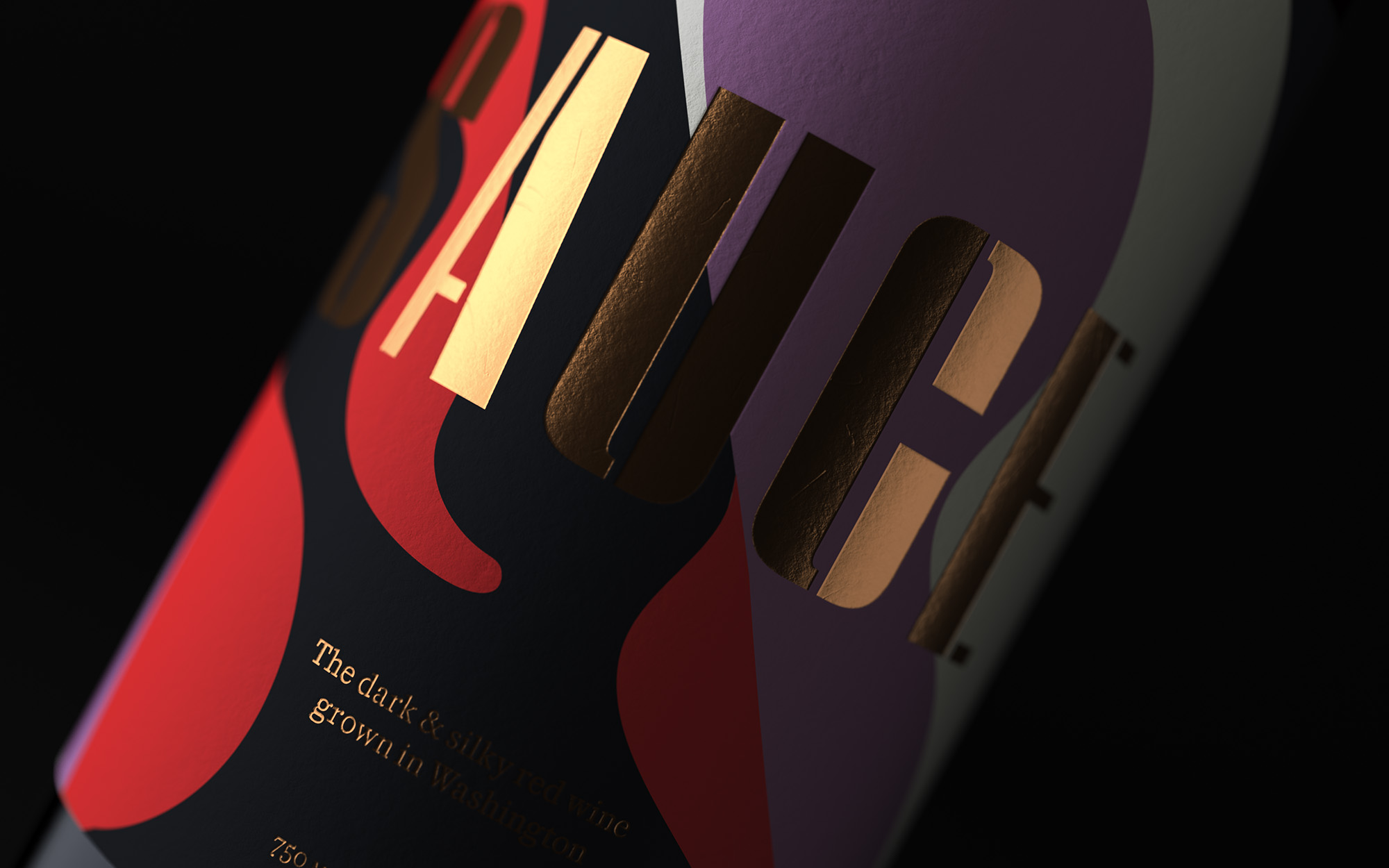 Joel Derksen Sauce Red Wine Package Design